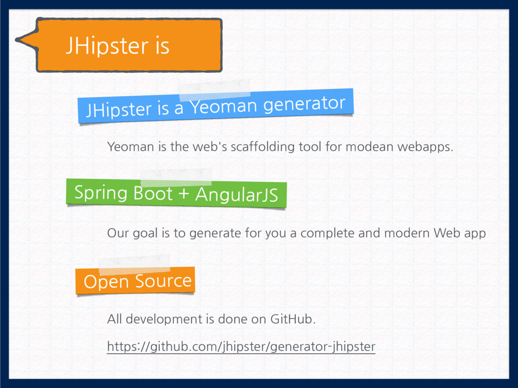 JHipster is JHipster is a Yeoman generator Spri...