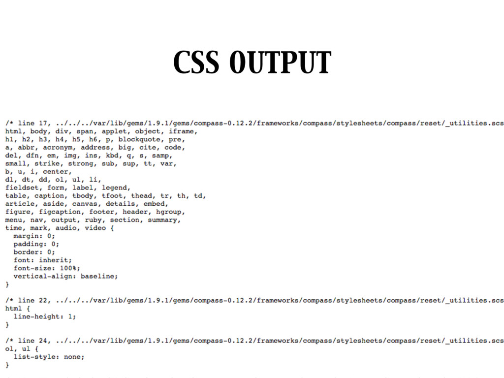 CSS OUTPUT