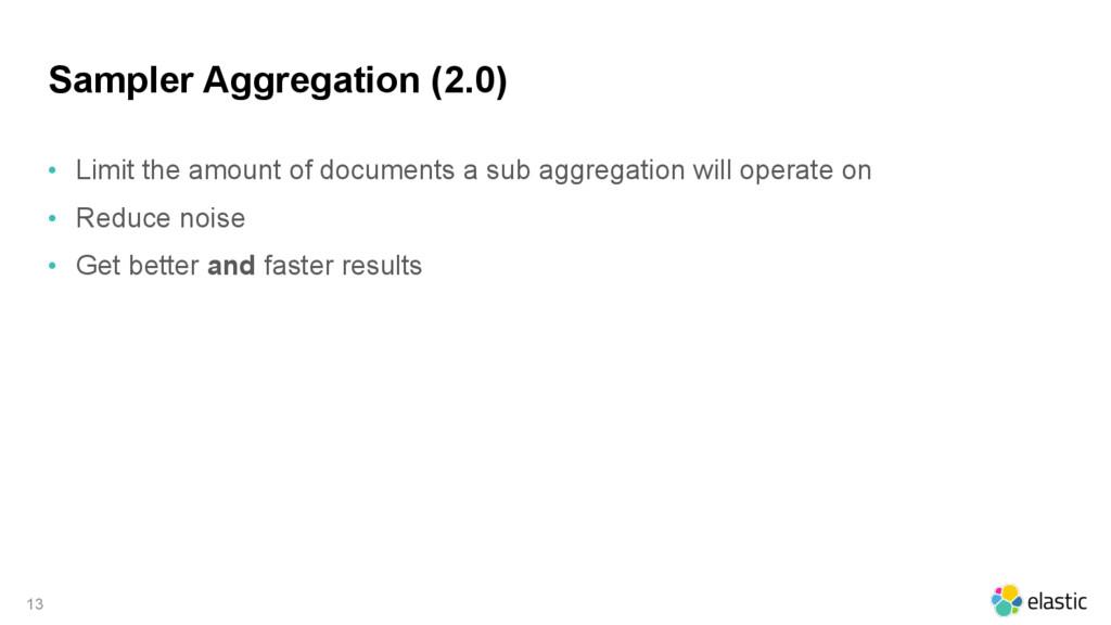 Sampler Aggregation (2.0) • Limit the amount of...