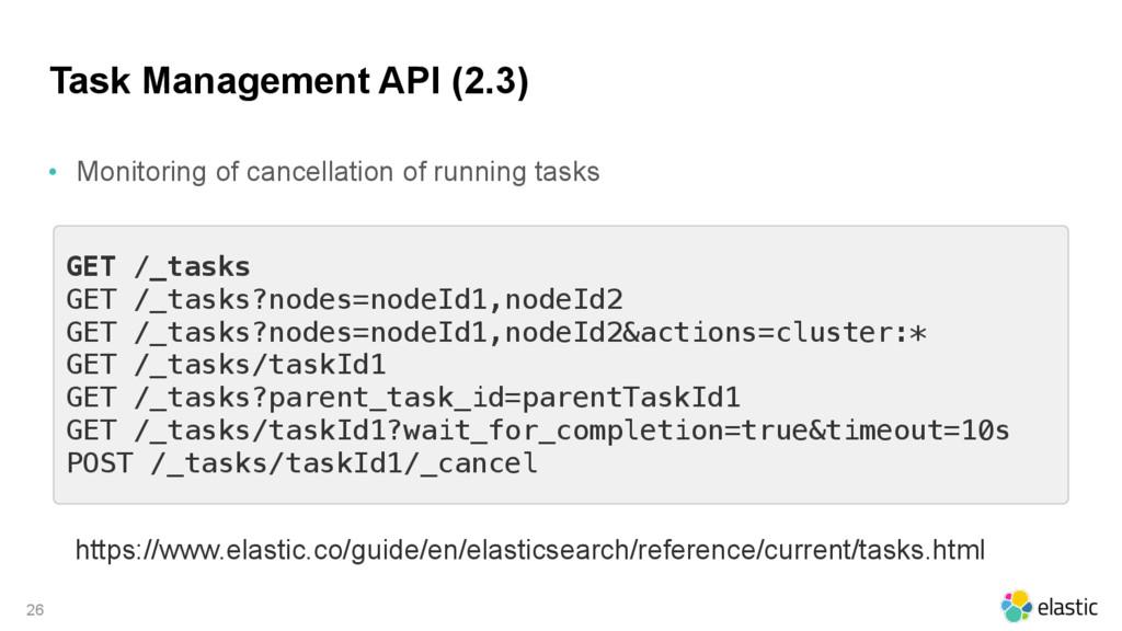Task Management API (2.3) • Monitoring of cance...
