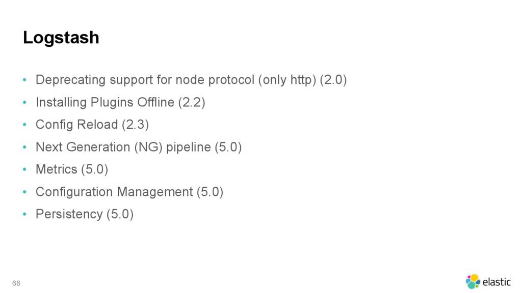 Logstash • Deprecating support for node protoco...