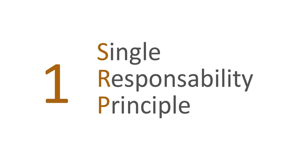Single Responsability Principle 1
