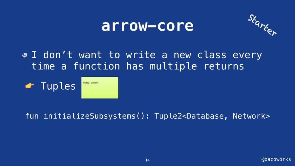 @pacoworks arrow-core I don't want to write a n...