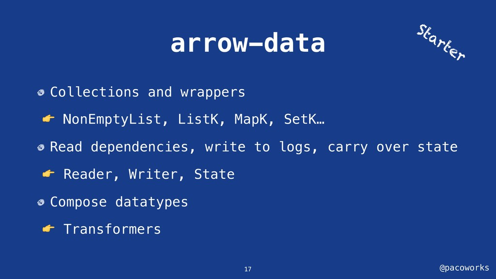 @pacoworks arrow-data Collections and wrappers ...