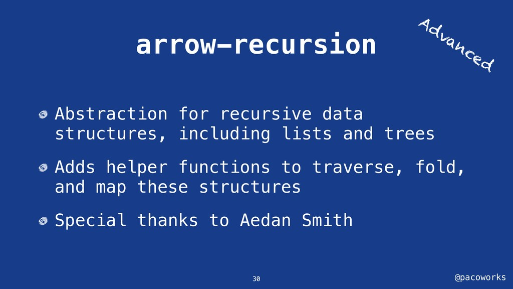 @pacoworks arrow-recursion Abstraction for recu...