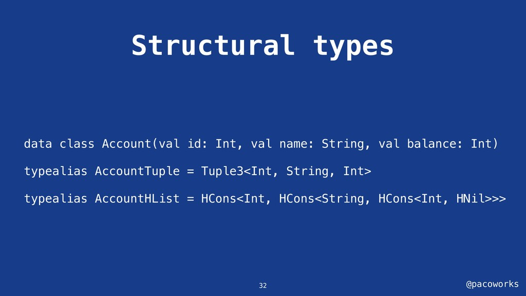 @pacoworks Structural types 32 data class Accou...