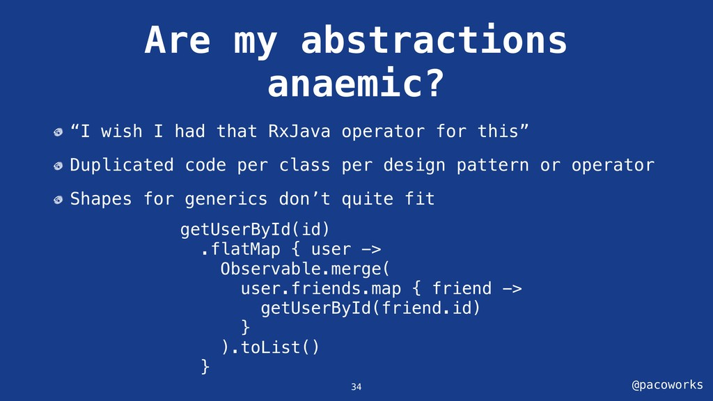 """@pacoworks Are my abstractions anaemic? """"I wish..."""