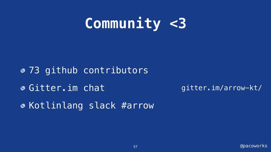 @pacoworks Community <3 gitter.im/arrow-kt/ 57 ...