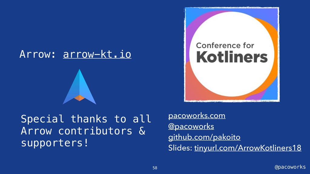 @pacoworks Arrow: arrow-kt.io pacoworks.com @pa...