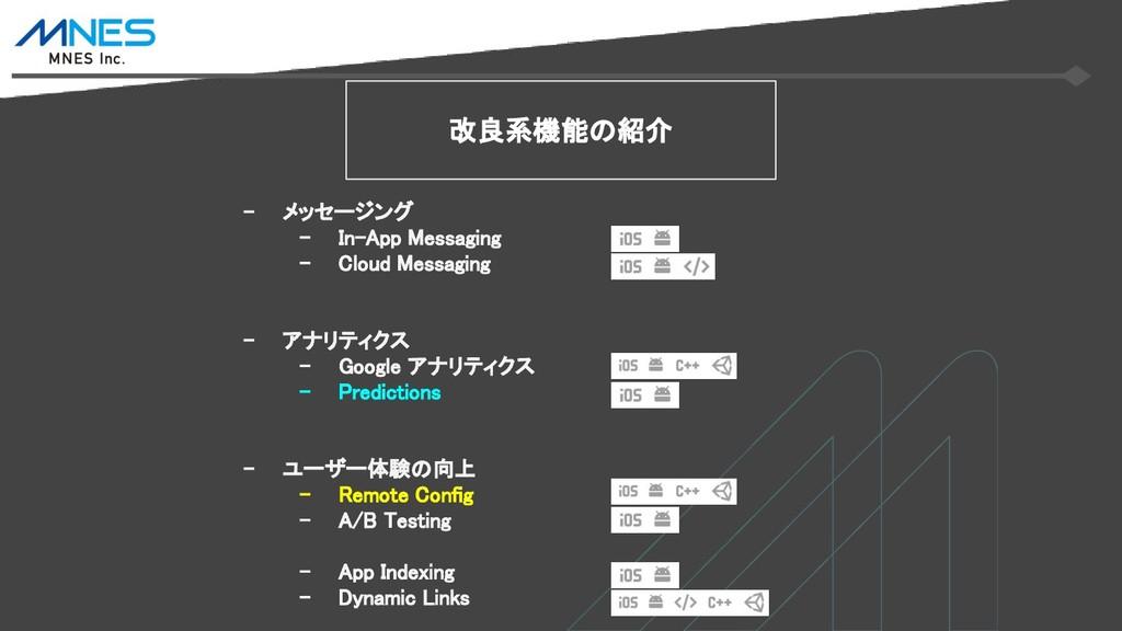 - メッセージング - In-App Messaging - Cloud Messaging ...
