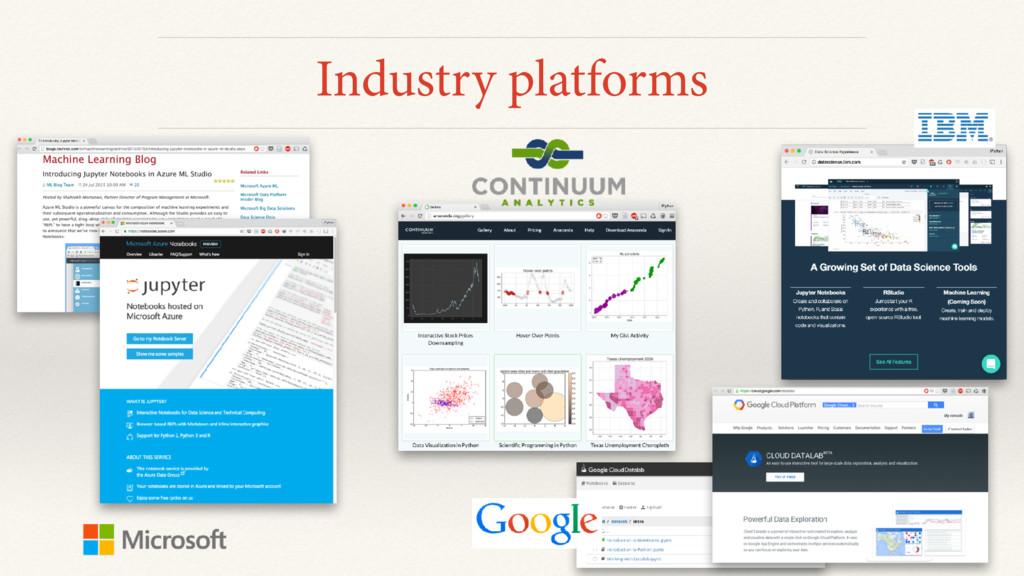 Industry platforms