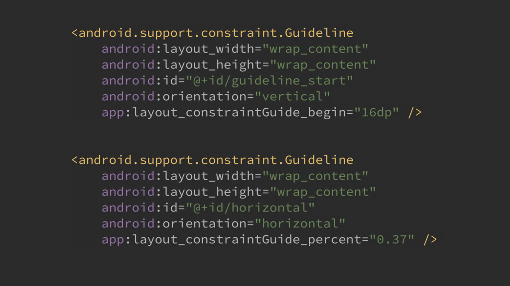 <android.support.constraint.Guideline android:...