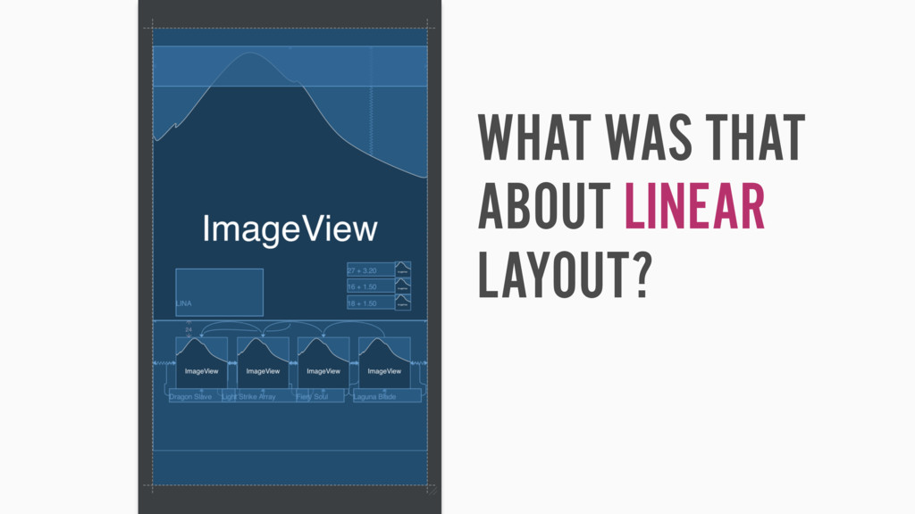 WHAT WAS THAT ABOUT LINEAR LAYOUT?