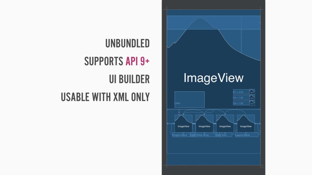 UNBUNDLED SUPPORTS API 9+ UI BUILDER USABLE WIT...