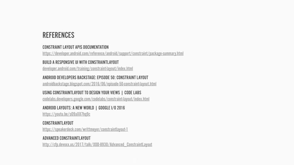 REFERENCES 52 CONSTRAINT LAYOUT APIS DOCUMENTAT...