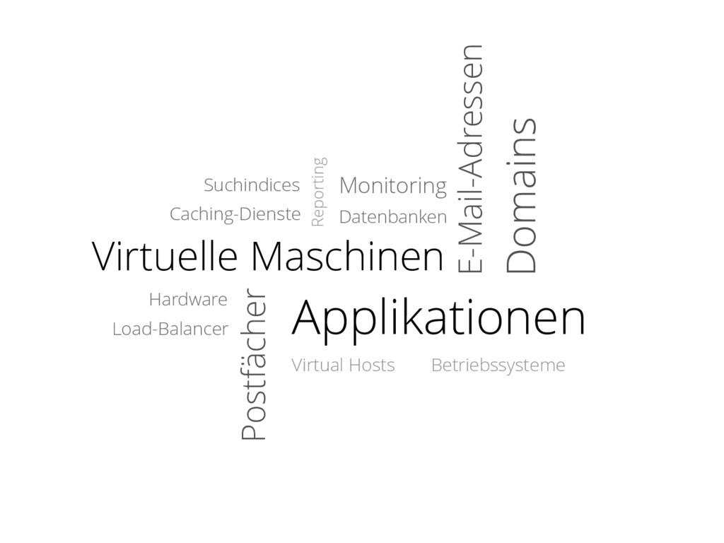 Virtuelle Maschinen Datenbanken Postfächer E-Ma...