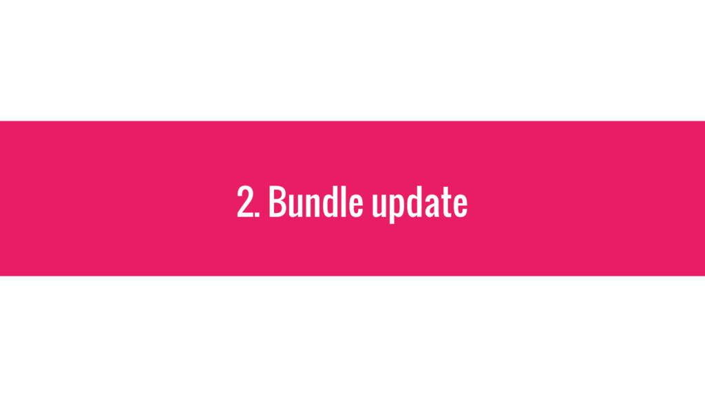 2. Bundle update
