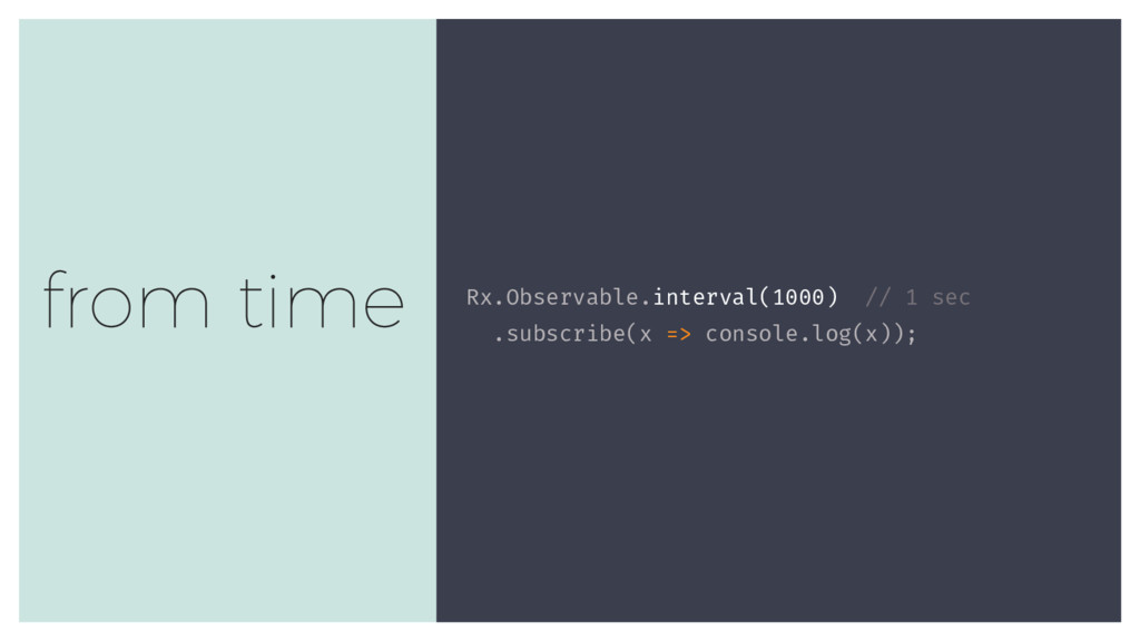 Rx.Observable.interval(1000) // 1 sec .subscrib...