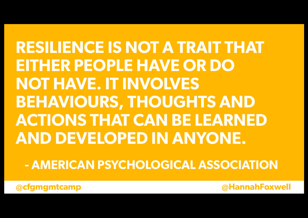 @cfgmgmtcamp @HannahFoxwell RESILIENCE IS NOT A...