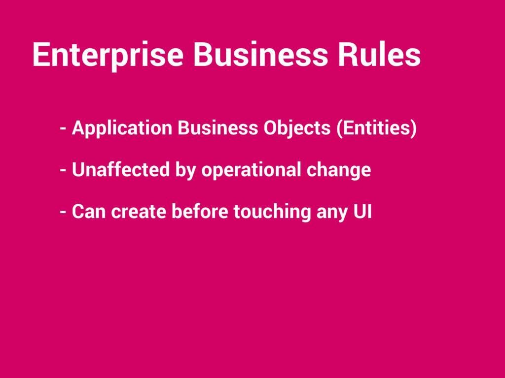 Enterprise Business Rules - Application Busines...