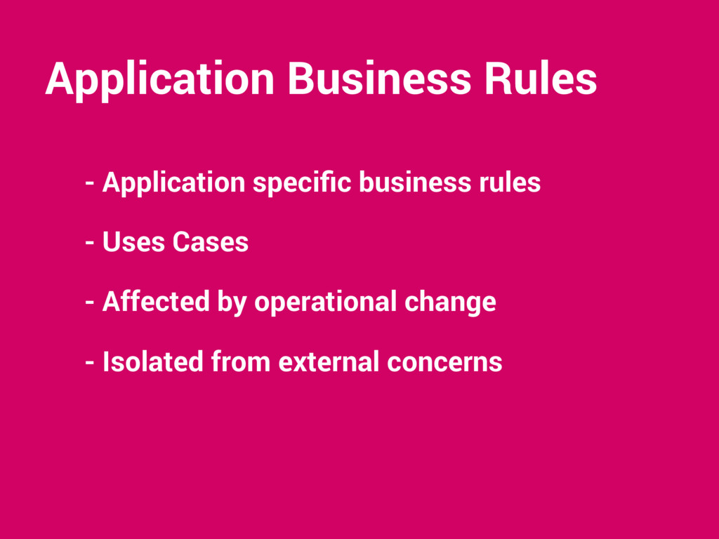 Application Business Rules - Application specifi...