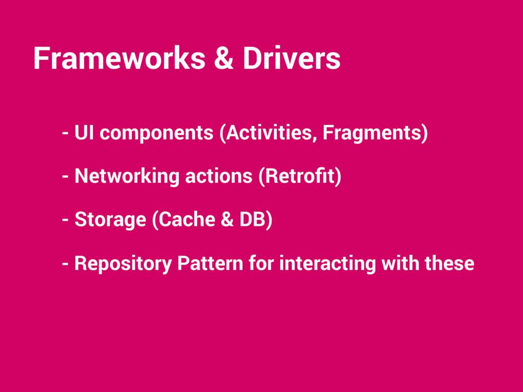 Frameworks & Drivers - UI components (Activitie...