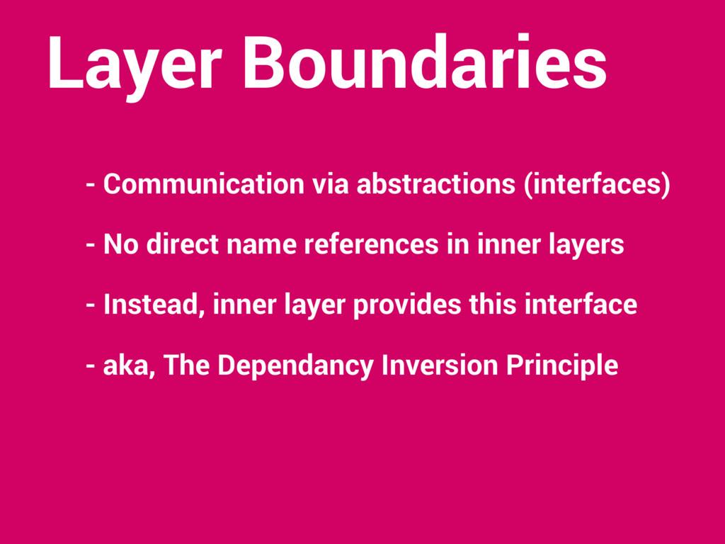 Layer Boundaries - Communication via abstractio...