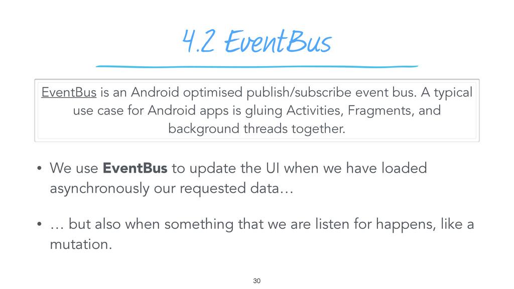 4.2 EventBus • We use EventBus to update the UI...