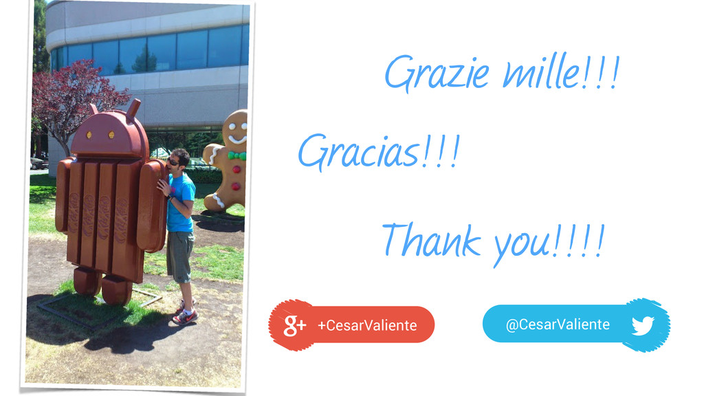 Grazie mille!!! +CesarValiente @CesarValiente G...
