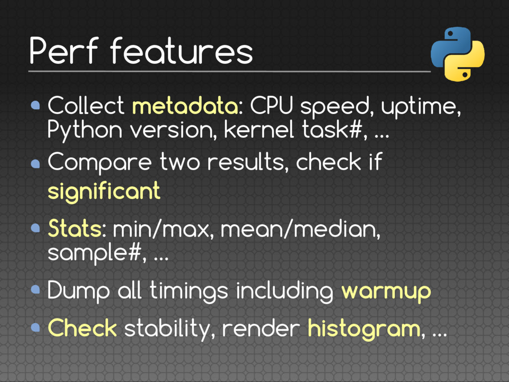 Collect metadata: CPU speed, uptime, Python ver...
