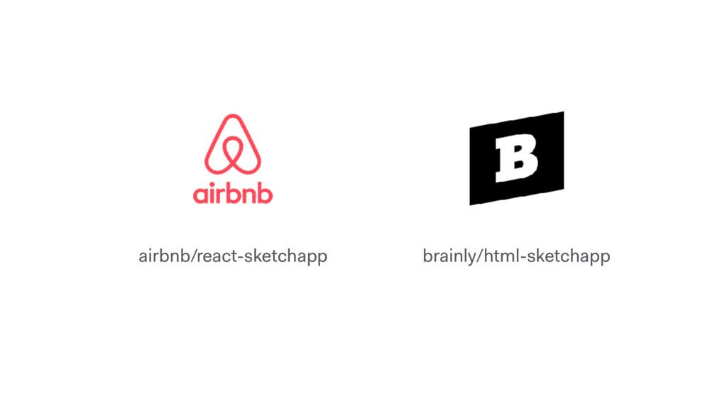 airbnb/react-sketchapp brainly/html-sketchapp