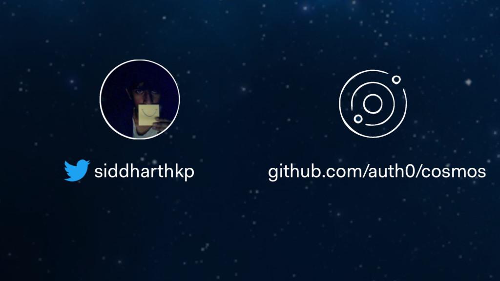 siddharthkp github.com/auth0/cosmos