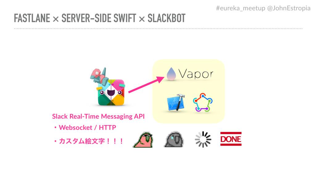 FASTLANE × SERVER-SIDE SWIFT × SLACKBOT Slack R...