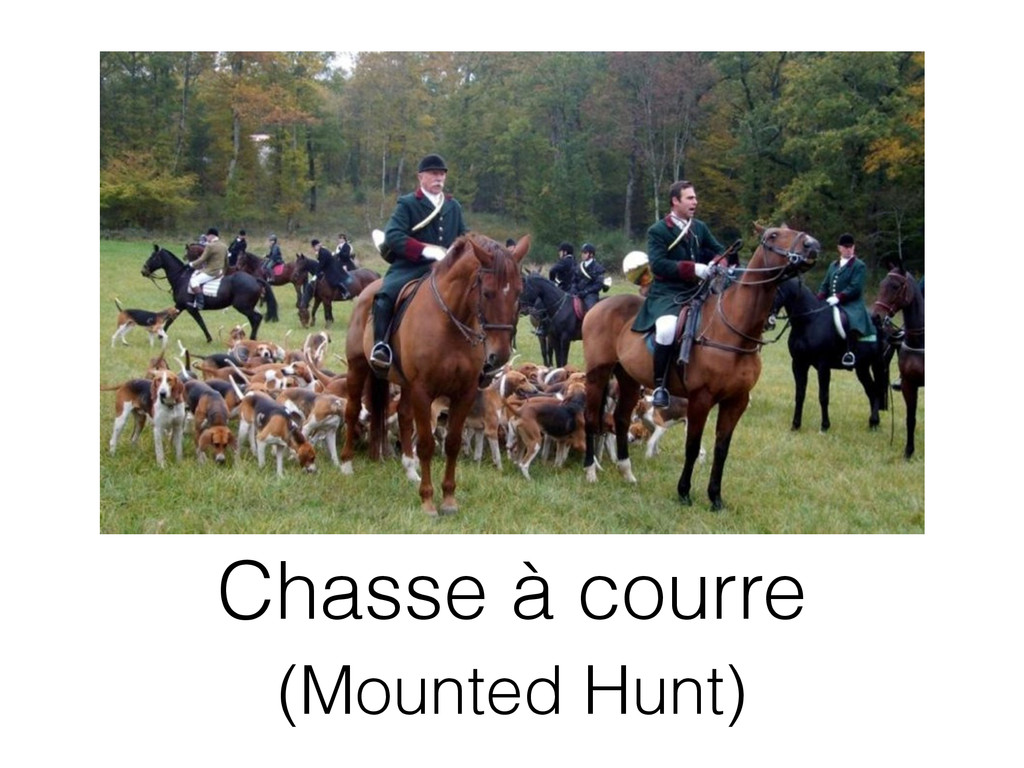 Chasse à courre (Mounted Hunt)