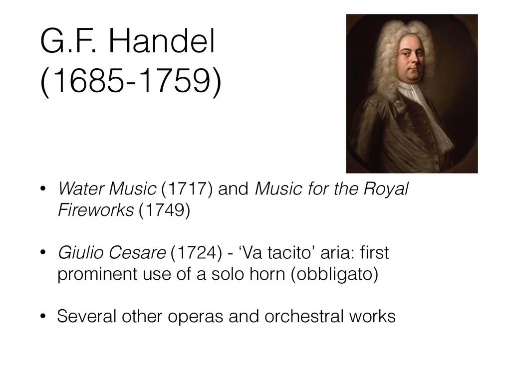 G.F. Handel (1685-1759) • Water Music (1717) an...