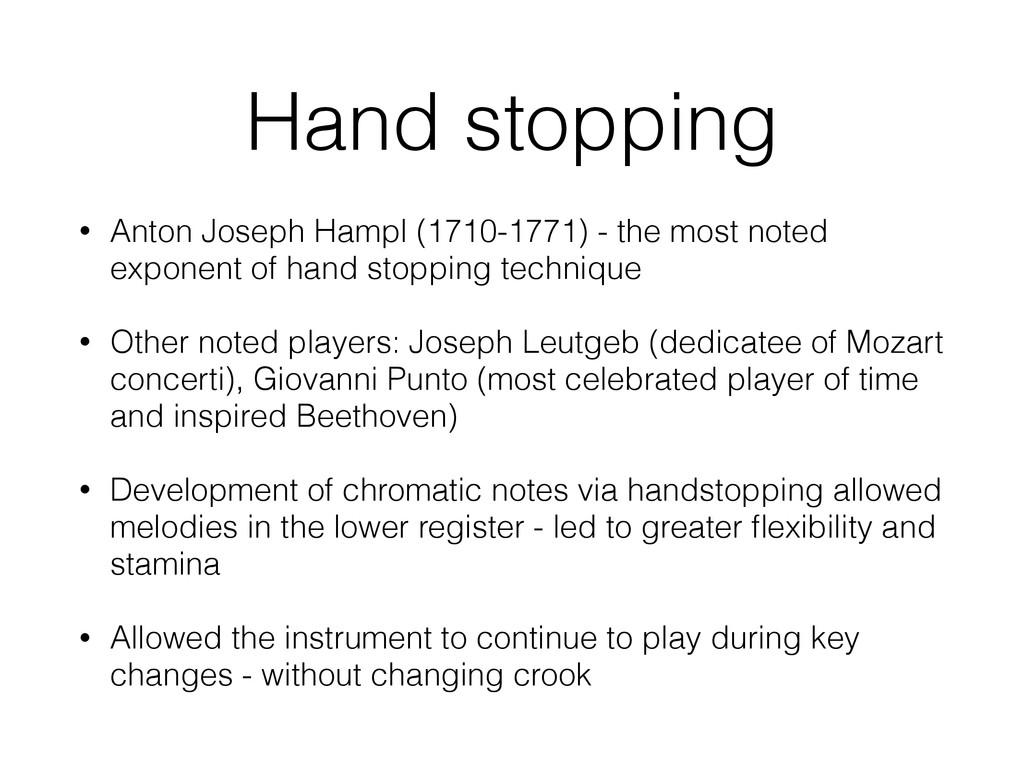 Hand stopping • Anton Joseph Hampl (1710-1771) ...