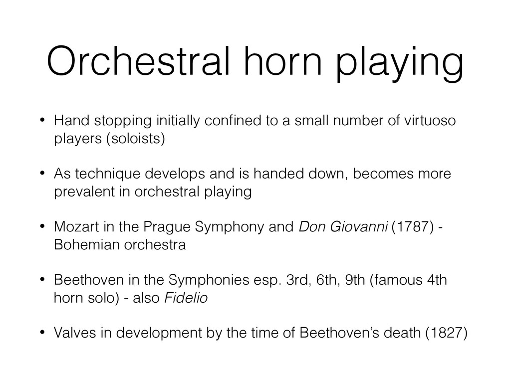 Orchestral horn playing • Hand stopping initial...