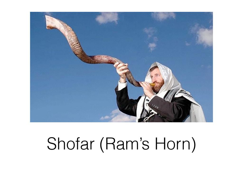 Shofar (Ram's Horn)