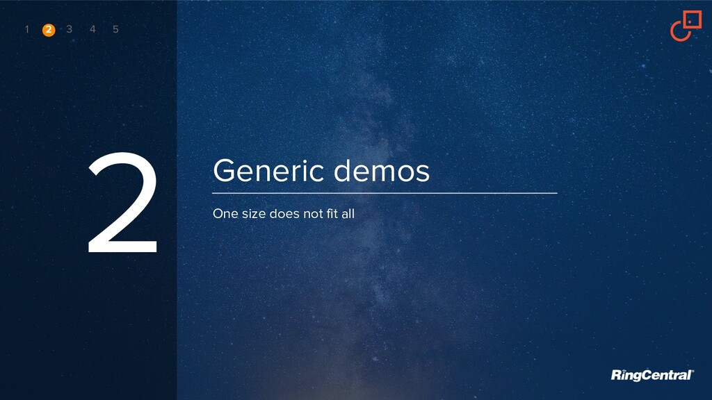 Generic demos 2 One size does not fit all 1 2 3...