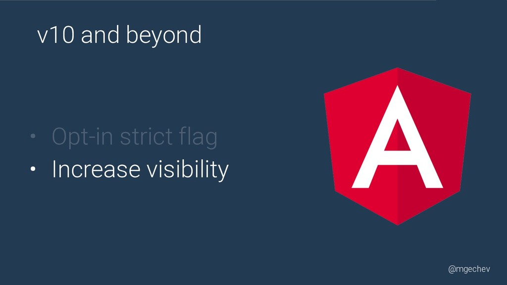 @mgechev • Opt-in strict flag • Increase visibi...