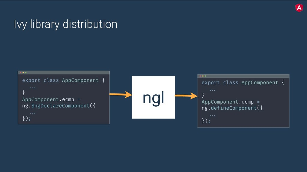 Ivy library distribution ngl export class AppCo...