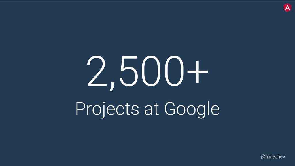 @mgechev 2,500+ Projects at Google