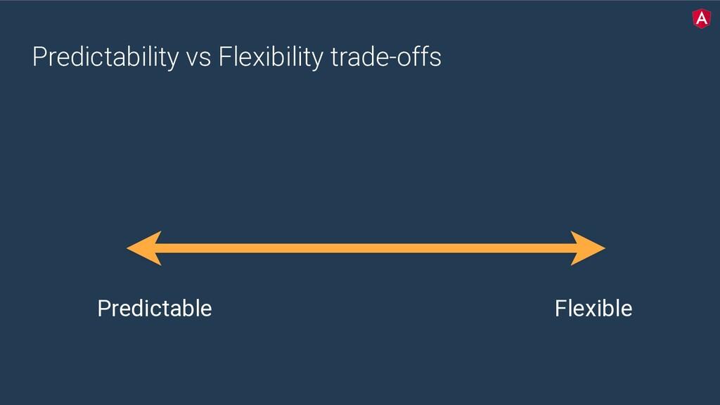 Predictability vs Flexibility trade-offs Predic...