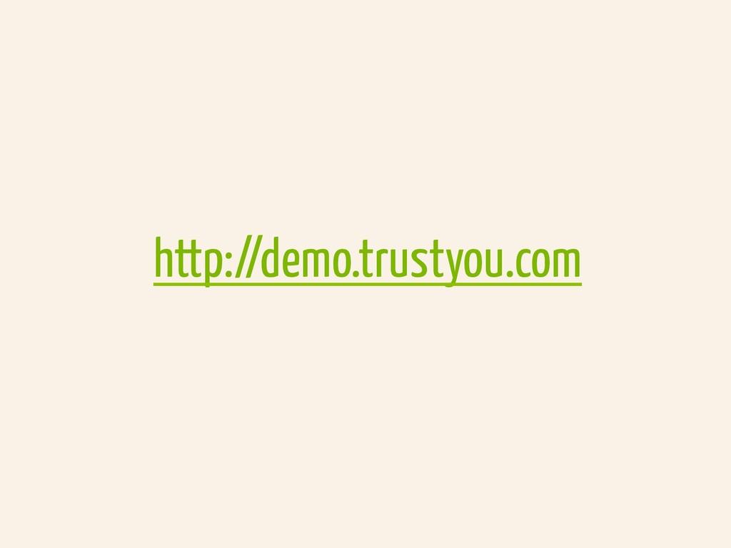 http://demo.trustyou.com