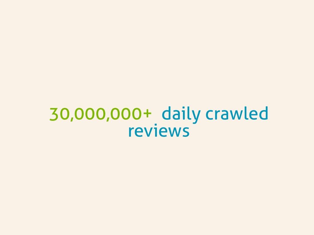 30,000,000+ daily crawled reviews
