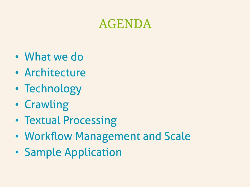 • What we do • Architecture • Technology • ...