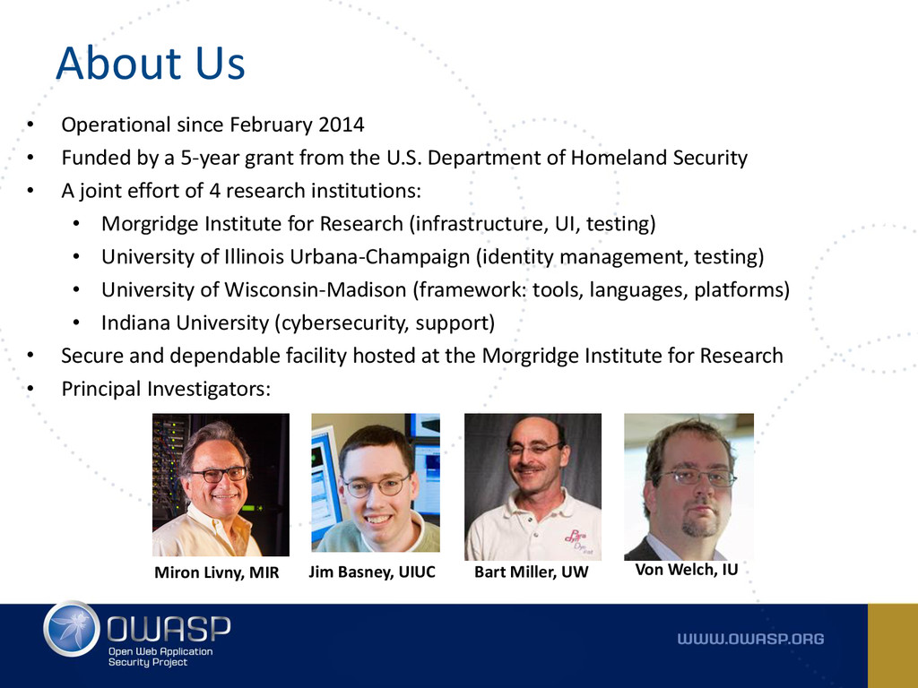 About Us • Operational since February 2014 • Fu...