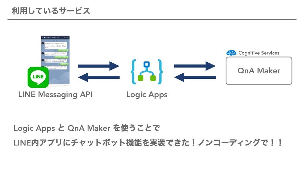 ར༻͍ͯ͠ΔαʔϏε QnA Maker Logic Apps LINE Messaging ...