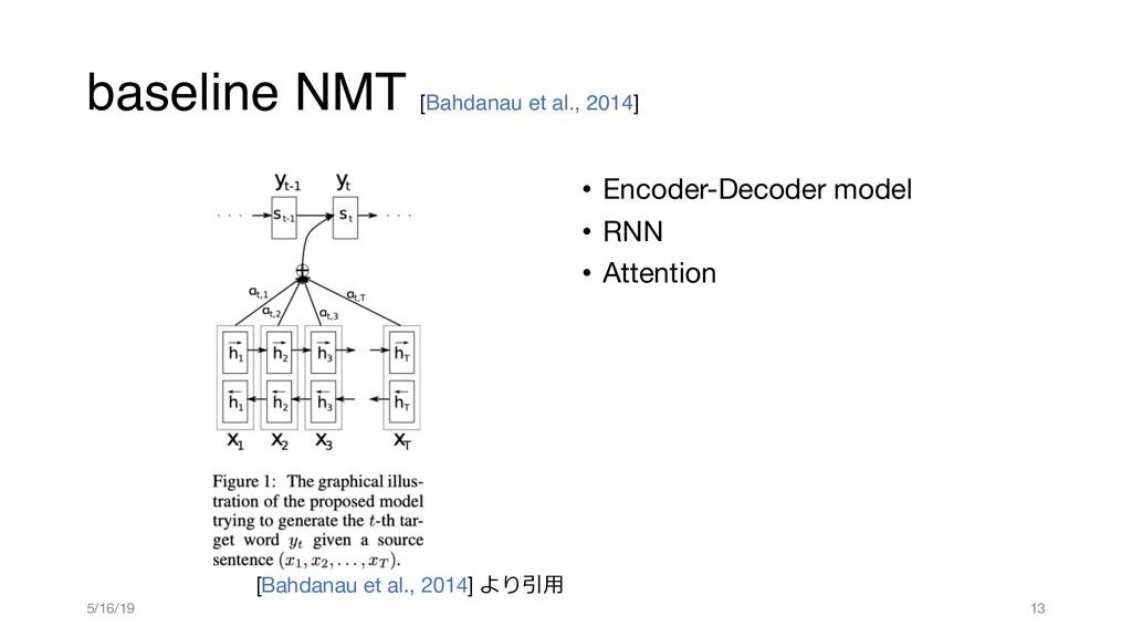 baseline NMT [Bahdanau et al., 2014] • Encoder-...