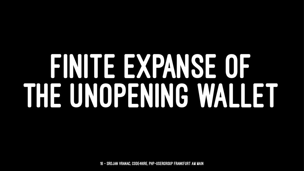 FINITE EXPANSE OF THE UNOPENING WALLET 16 — Srd...